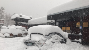 Snow and vehicles
